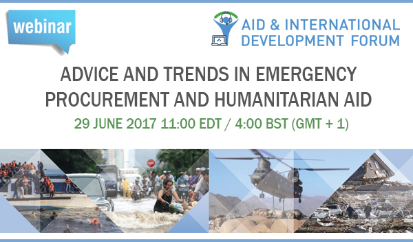 Webinar: Advice & Trends in Emergency Procurement and Humanitarian Aid