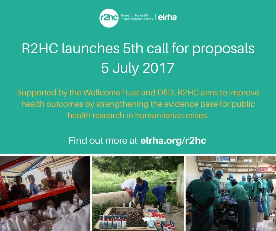 Elrha's R2HC Funding Call