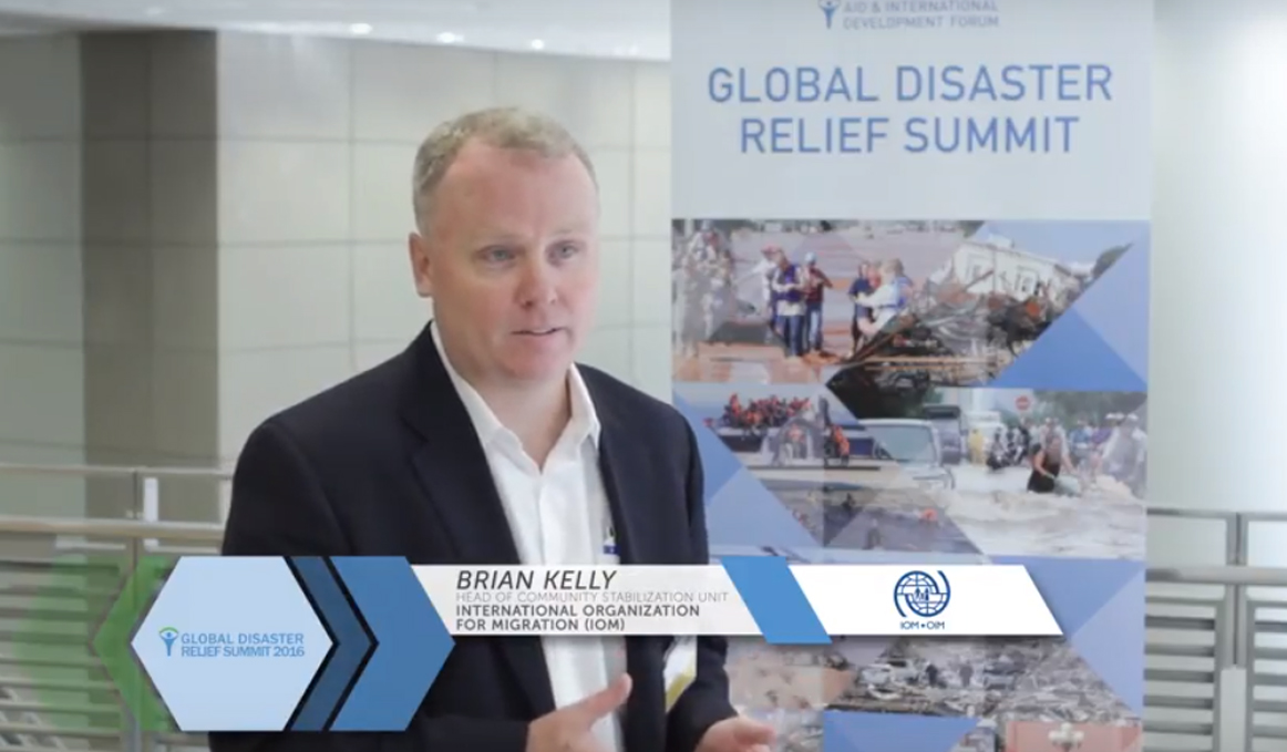 Global Disaster Relief Summit 2016 - Interview with Brian Kelly, IOM