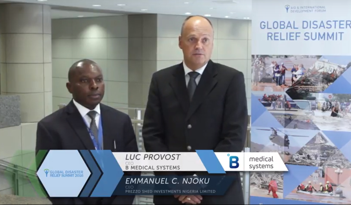 Global Disaster Relief Summit 2016 - Interview with Luc Provost & Emmanuel Njoku, B Medical Systems