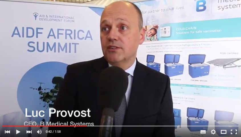 AIDF Africa Summit 2016 - Interview with Luc Provost, B Medical Systems
