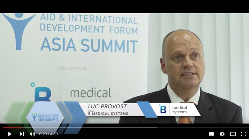 AIDF Asia Summit 2016 - Interview with Luc Provost, B Medical Systems