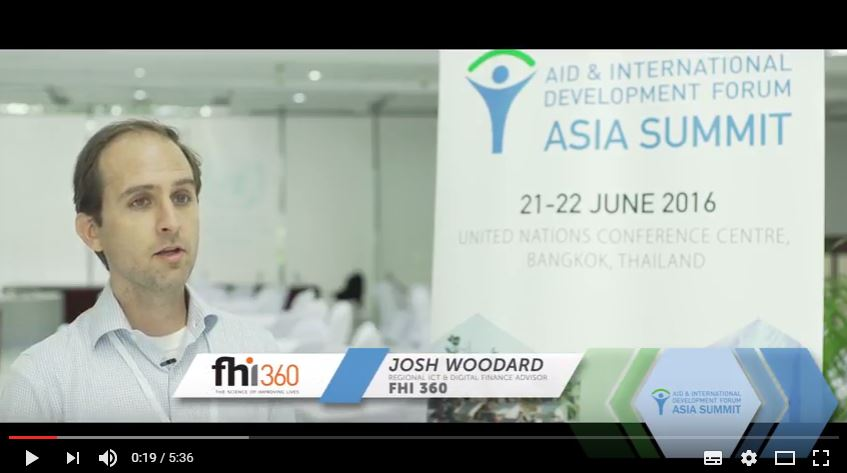 AIDF Asia Summit 2016 - Interview with Josh Woodard, FHI 360