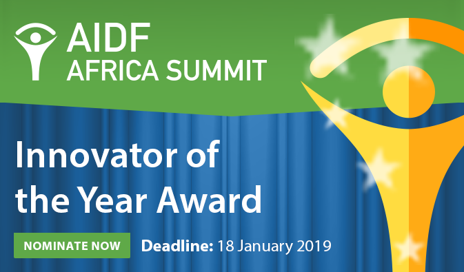 AIDF are pleased to open nominations for the Africa Innovator of the Year Award 2019!