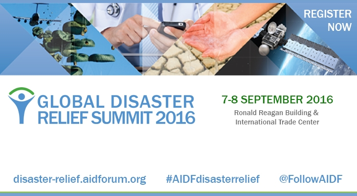 Dates and topics announced for 8th AIDF Global Disaster Relief Summit 2016