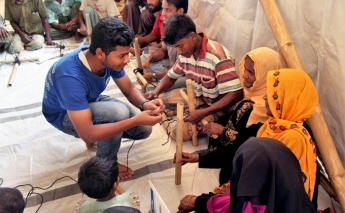 IOM is training Rohingya refugees on how to improve their shelter ahead of monsoon season