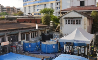Earthquake in Nepal - 2 water treatment systems from Kärcher Futuretech in use in Kathmandu May 2015